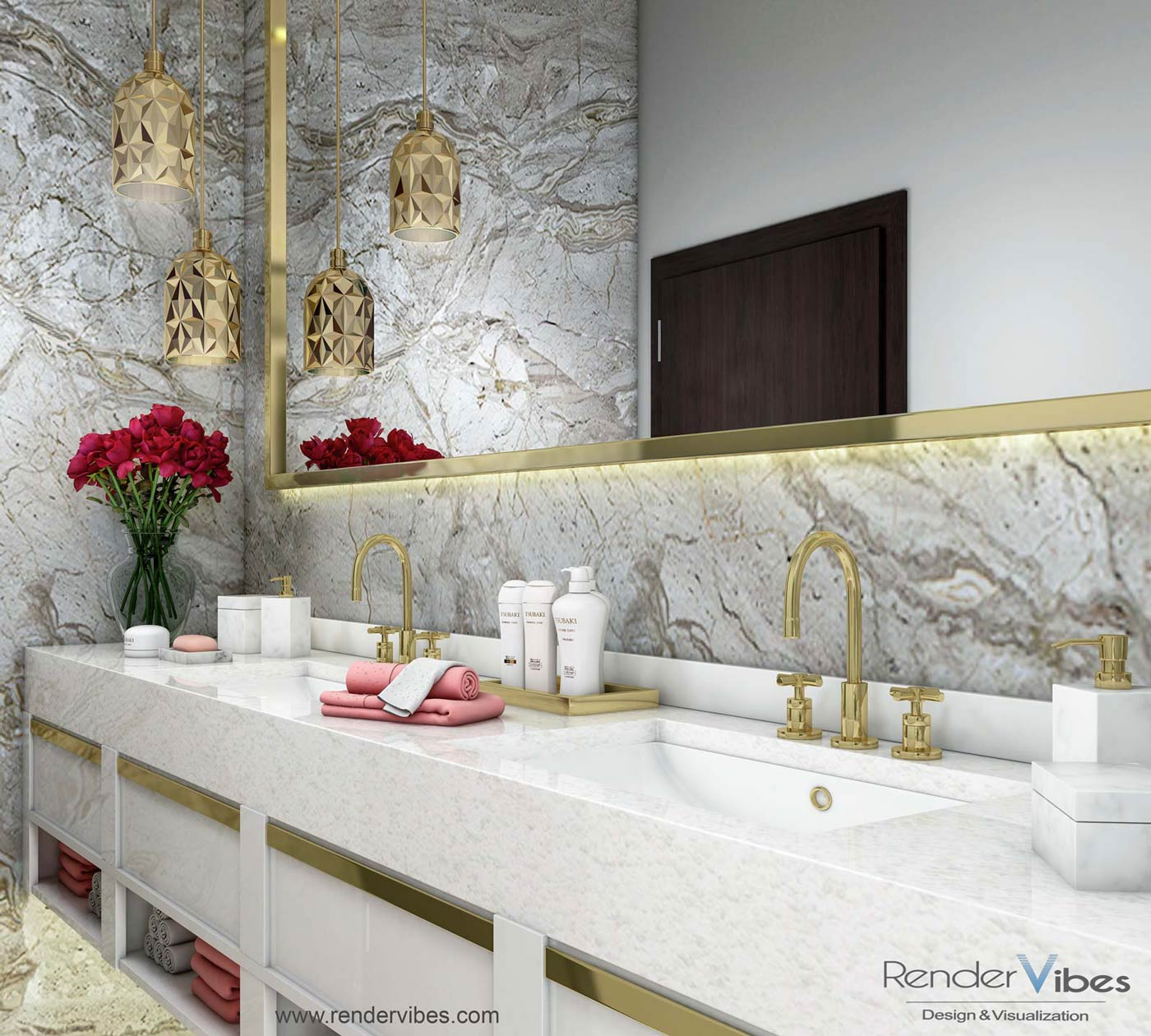 Collection Of Luxury Bathroom Rendering From Various Projects Render Vibes Visualization